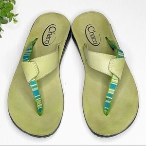 Chaco Flips Leather Sandals (8)